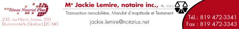 Me Jackie Lemire, notaire inc.
